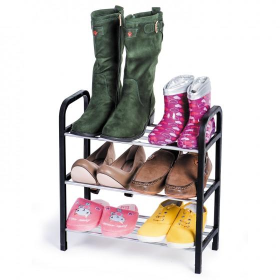 Suport pentru pantofi pe 3 niveluri Tatkraft 699270, 42x19,5x47,5, cromat