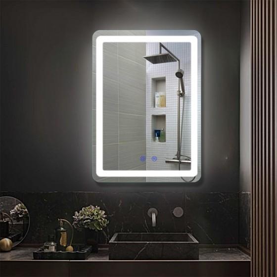 Oglinda baie cu iluminare led Prisma 00P-S04, 80x60 cm