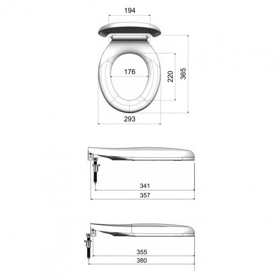 Capac WC pentru copii, Eurociere 1103, inchidere standard, 293 x 380 mm